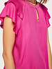 SCOTCH & SODA 149820 rayon top with sporty rib and ruffle sleeves 0172