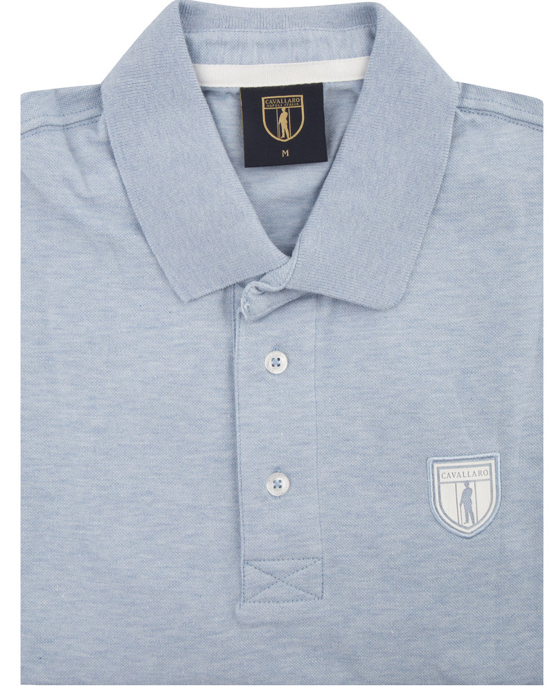 CAVALLARO 1691002 Basic polo light blue
