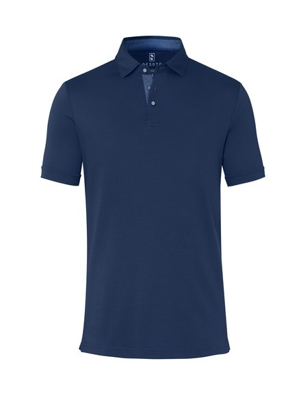 DESOTO 90038-3 057 Polo hai seasonal solids/dark blue