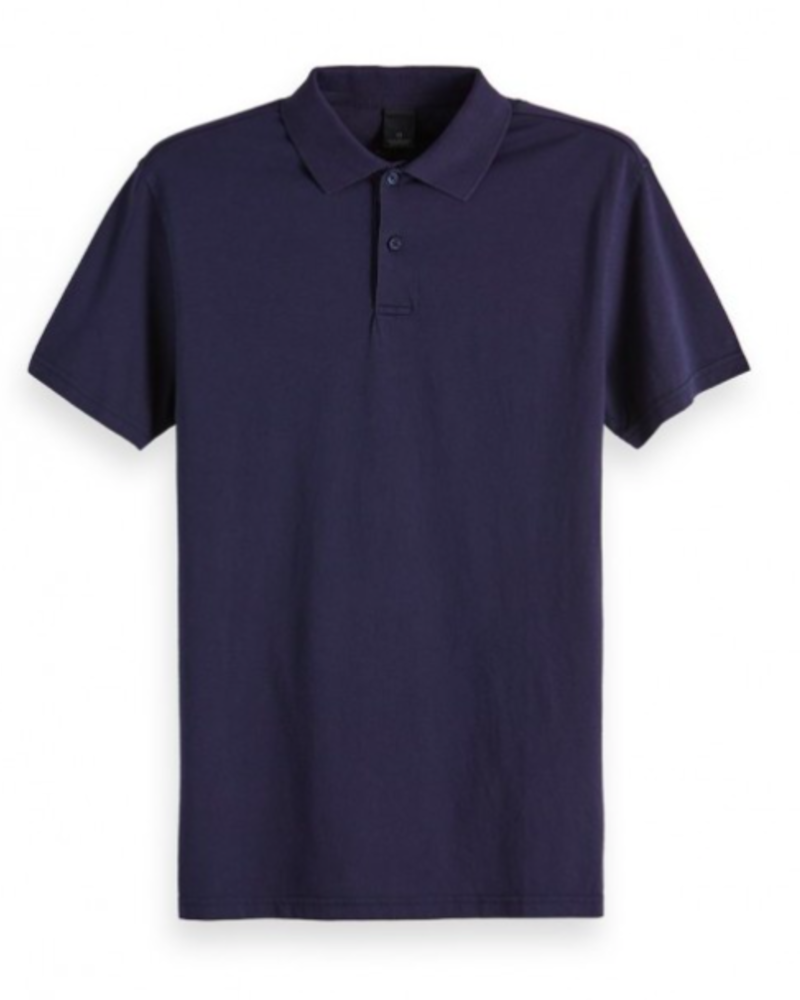 Scotch&Soda 151203 Classic garment-dyed jersey polo 0004