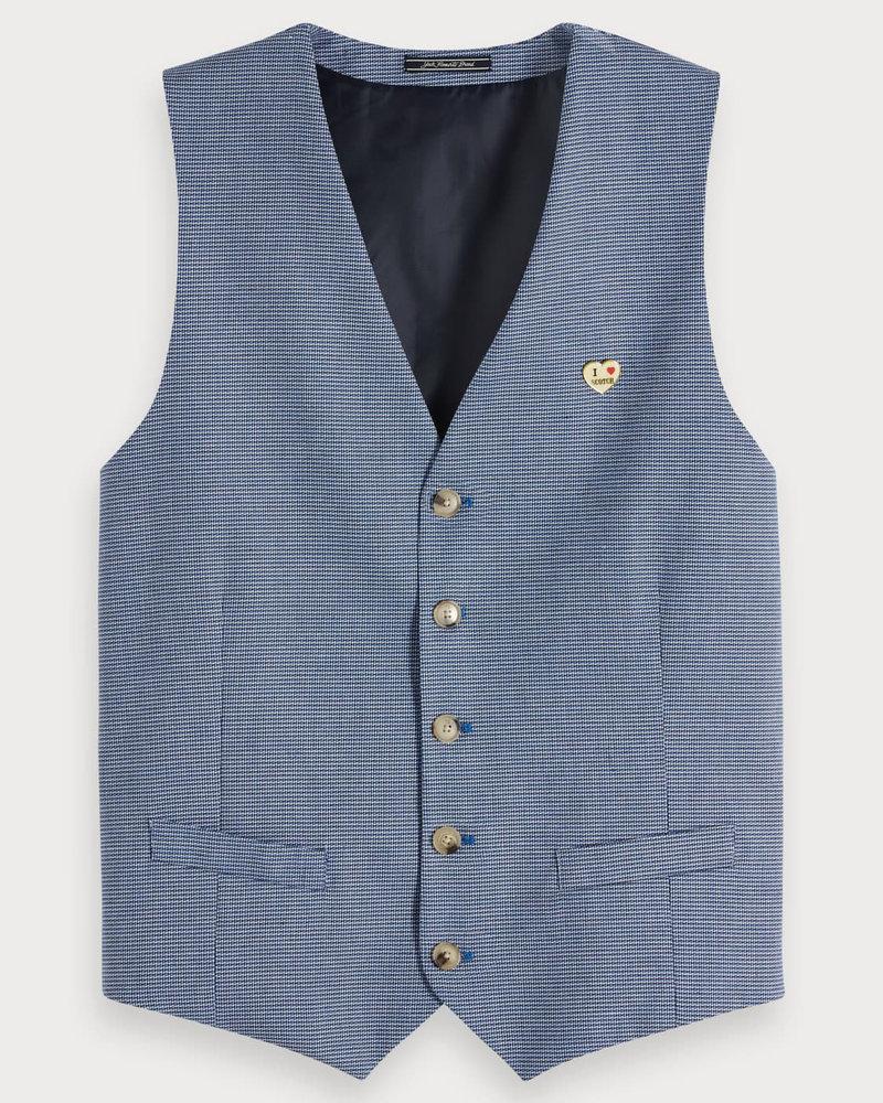Scotch&Soda 148742 Classic gilet in yarn-dyed quality 0218