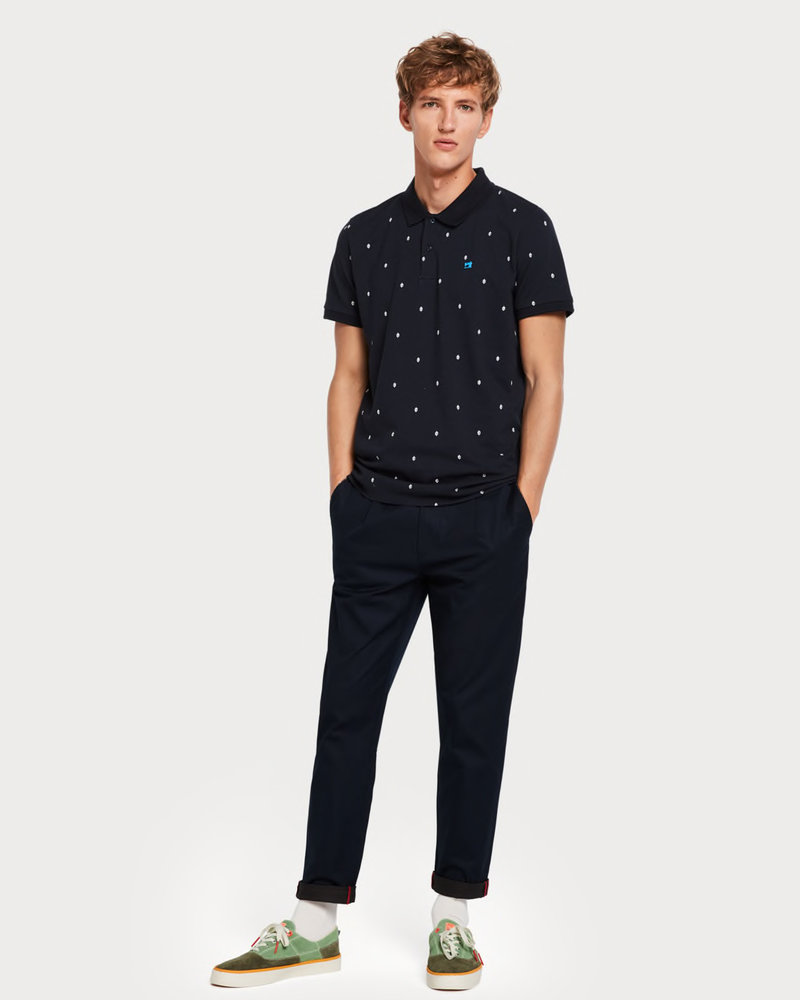 Scotch&Soda 149077 Classic clean pique polo with all-over pattern 0221