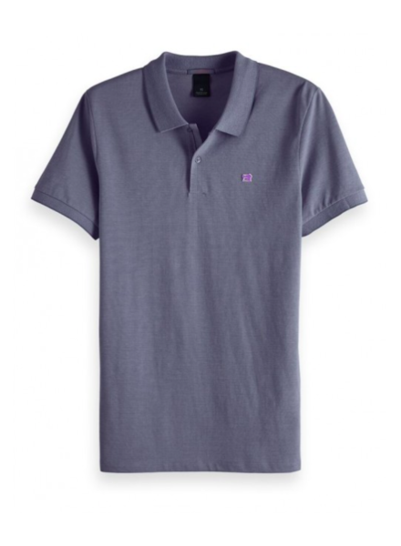 Scotch&Soda 133714 Classic two-tone polo in clean pique quality with pop logo p 0419