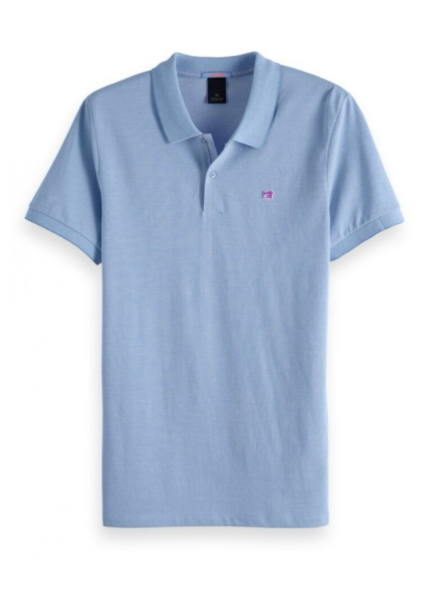 Scotch&Soda 133714 Classic two-tone polo in clean pique quality with pop logo p 0886