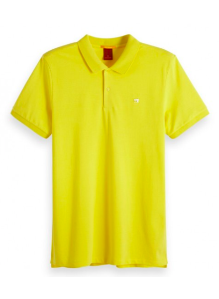 Scotch&Soda 149073 Classic clean pique polo with pop logo print 2753