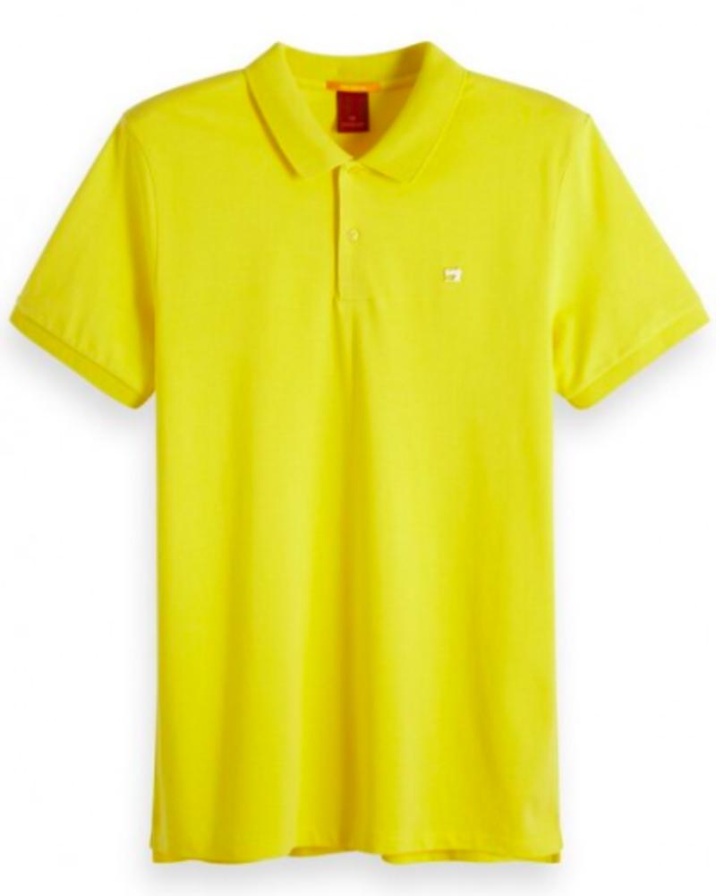 Scotch&Soda 149073 Classic clean pique polo with pop logo print 2753
