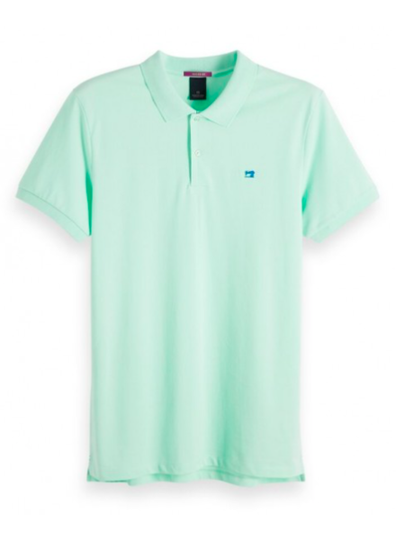 Scotch&Soda 149073 Classic clean pique polo with pop logo print 2781