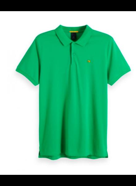 Scotch&Soda 149073 Classic clean pique polo with pop logo print 0896
