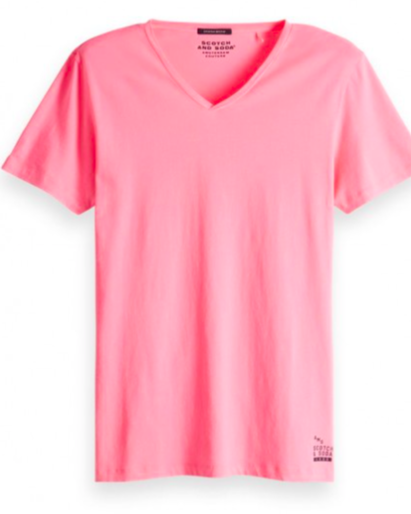 Scotch&Soda 149006 Classic solid cotton-jersey v-neck tee 1659