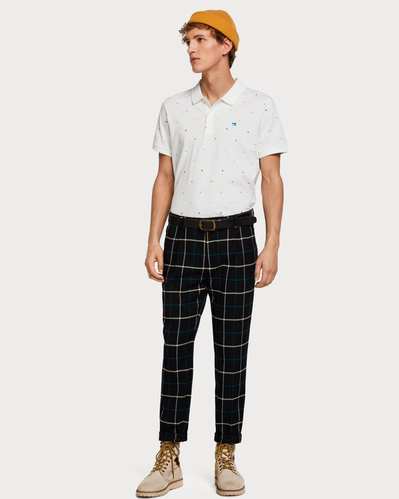 Scotch&Soda 149077 Classic clean pique polo with all-over pattern 0219
