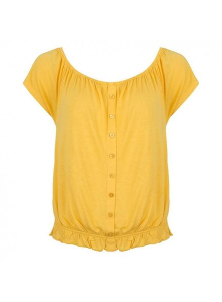 ESQUALO HS19.30226 Top cropped buttons yellow
