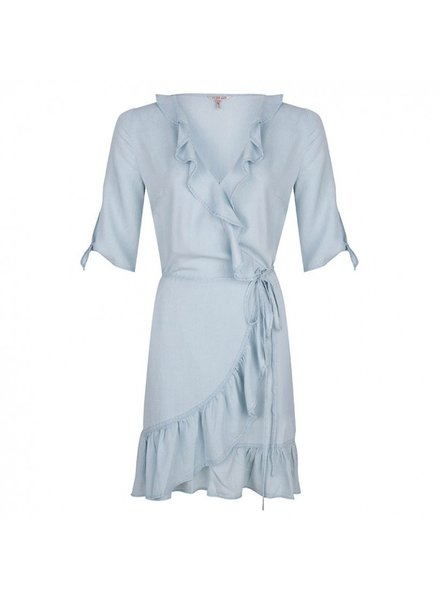 ESQUALO HS19.16205 Dress tencel wrap around