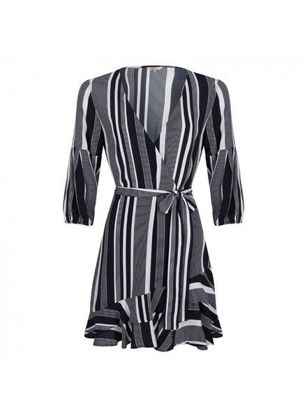ESQUALO HS19.14223 Dress ruffle stripe