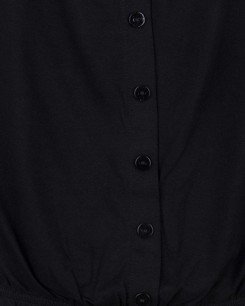 ESQUALO HS19.30226 Top cropped buttons black