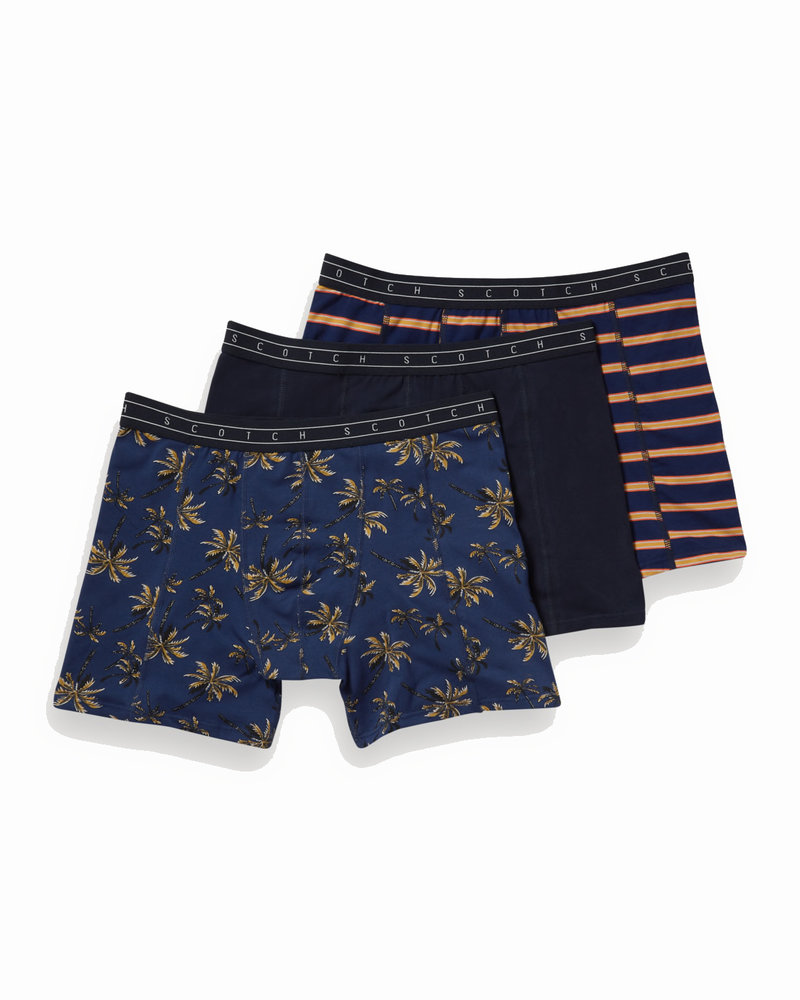 Scotch&Soda 148570 Classic boxer short in solid, print and yarn-dyed stripe 0218