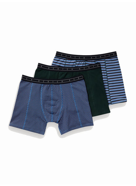 Scotch&Soda 148570 Classic boxer short in solid, print and yarn-dyed stripe 0219