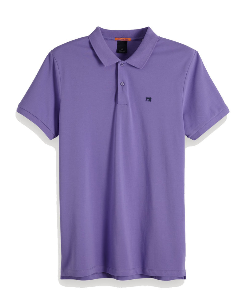 Scotch&Soda 149073 Classic clean pique polo with pop logo print 1527