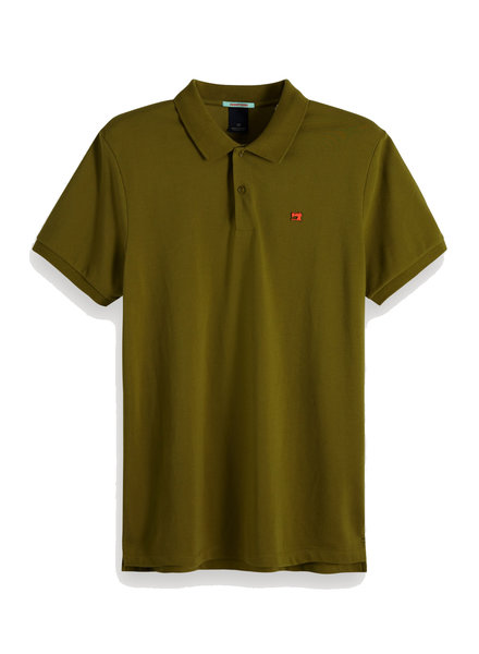 Scotch&Soda 149073 Classic clean pique polo with pop logo print 1150