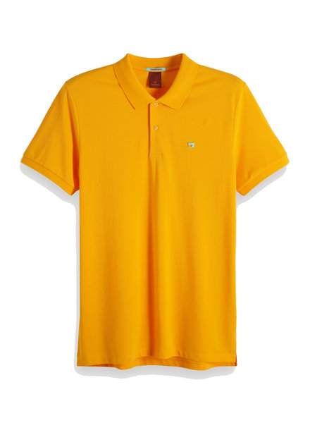 Scotch&Soda 149073 Classic clean pique polo with pop logo print 1102