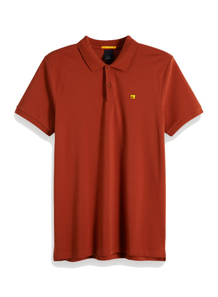 Scotch&Soda 149073 Classic clean pique polo with pop logo print 0986