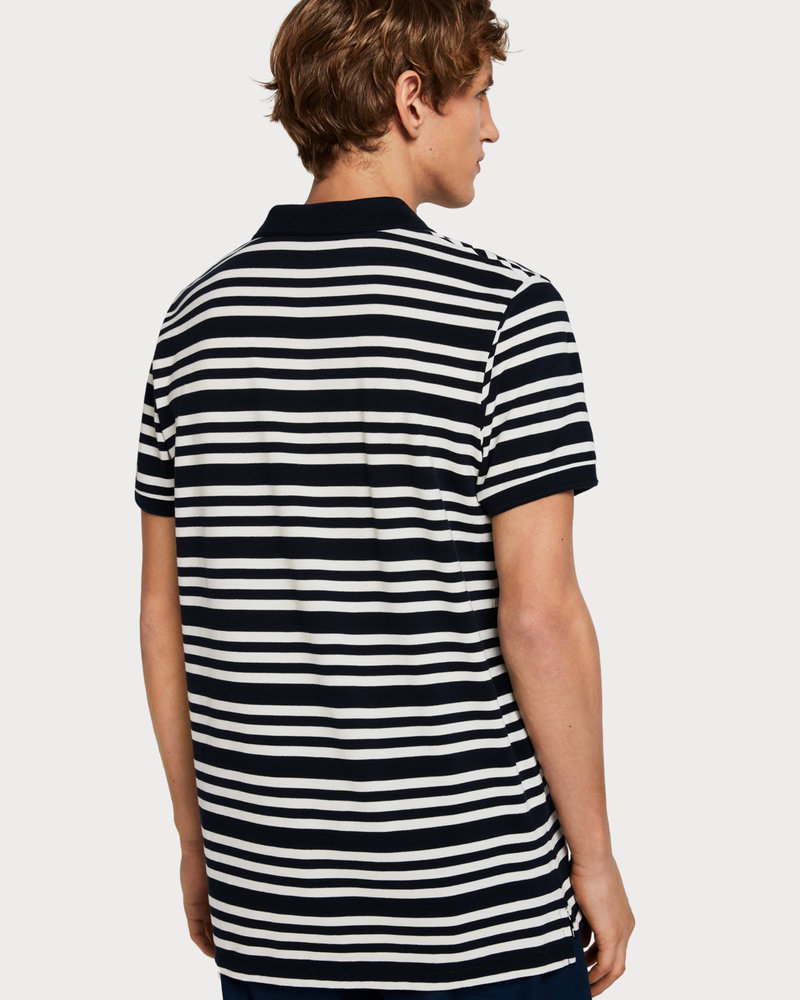 Scotch&Soda 149077 Classic clean pique polo with all-over pattern 0222