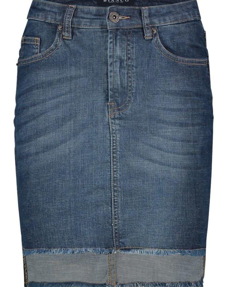 BIANCO 1118379-Poppy Jasper Skirt Dark Blue