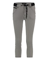 BIANCO 1118420-Picotite Boyfriend 7/8 Black Stripes