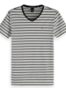 Scotch&Soda 149007 Classic cotton/elastane v-neck tee 0218
