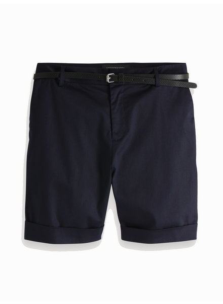 SCOTCH & SODA 149967 longer length mercerised chino shorts, sold with a belt