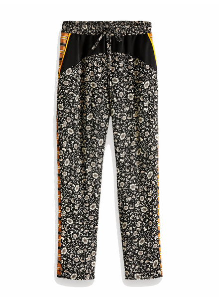 SCOTCH & SODA 149916 printed woven colourblocked jogger pants