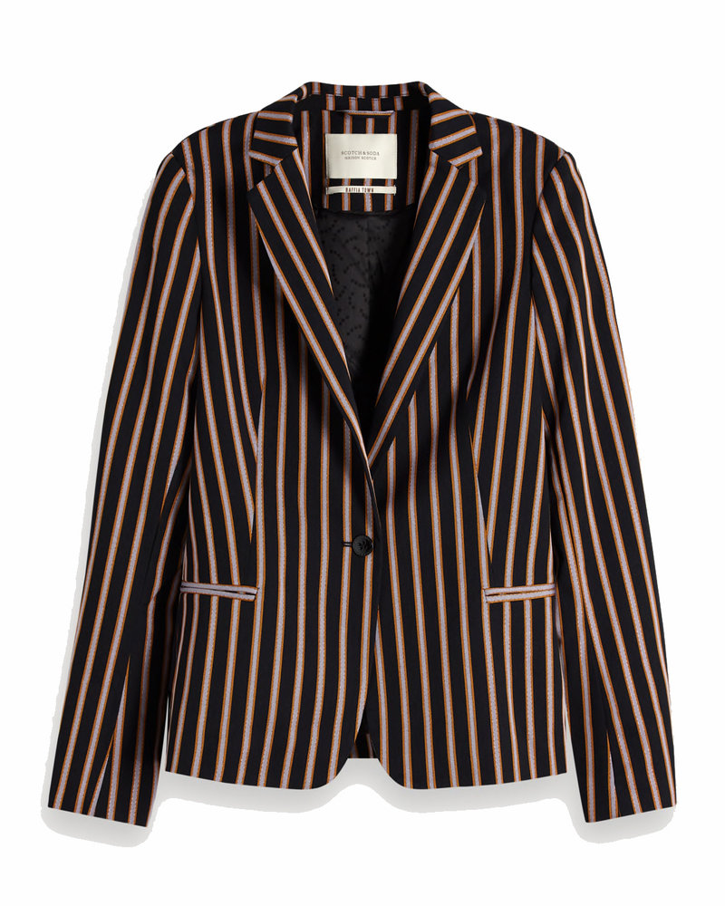 SCOTCH & SODA 150035 classic tailored blazer in stripes and solids