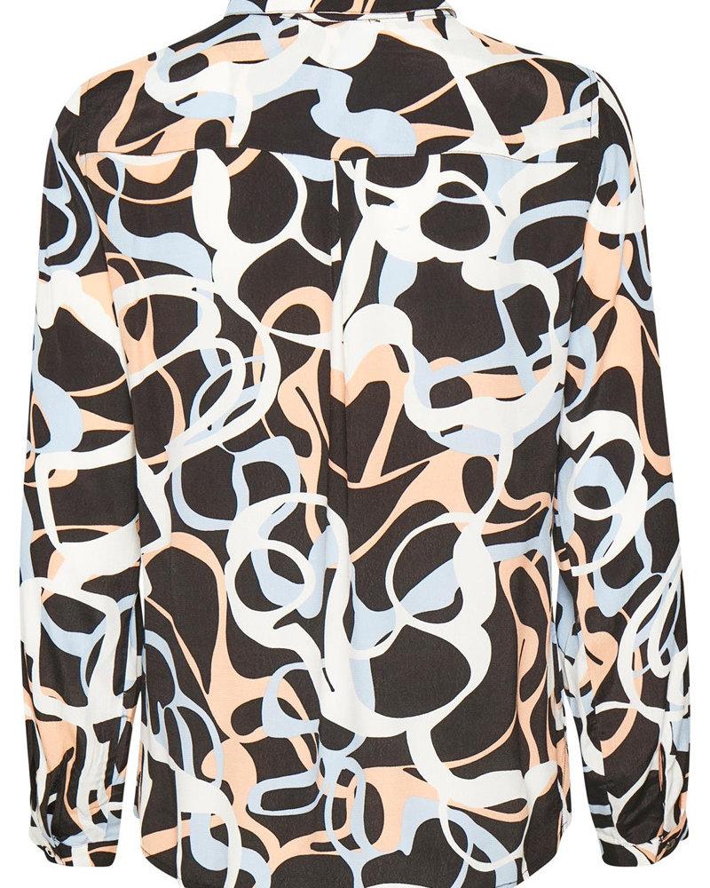 Denim hunter 10702135 DHSara Shirt 36100 black AOP