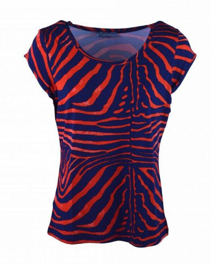 GEISHA 92341-60 T-shirt blue/red