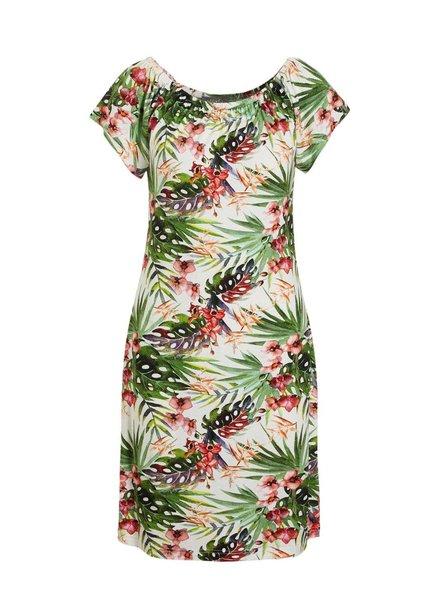 GEISHA 97037-60 dress 000010 off white/green