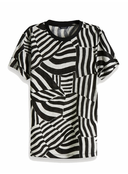 Scotch&Soda 150703 Allover printed short sleeve tee in soft quality 17