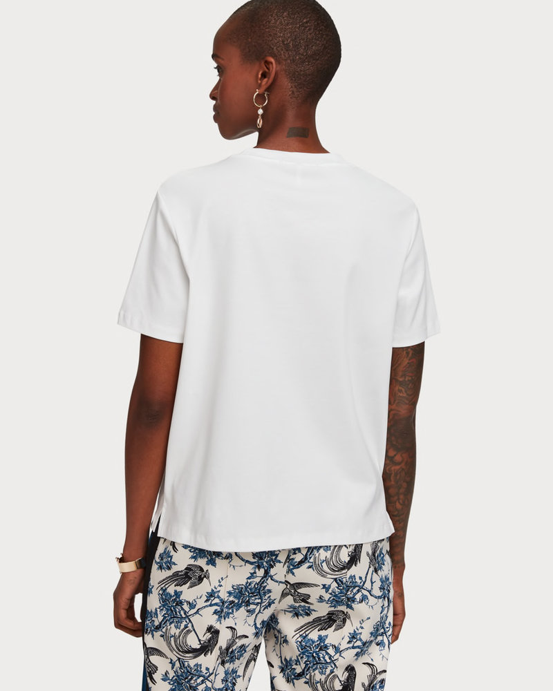 SCOTCH & SODA 153037 06 Short sleeve tee with toile artwork