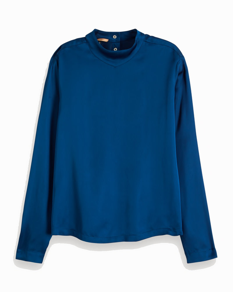 SCOTCH & SODA 154114 3227 High neck long sleeve top