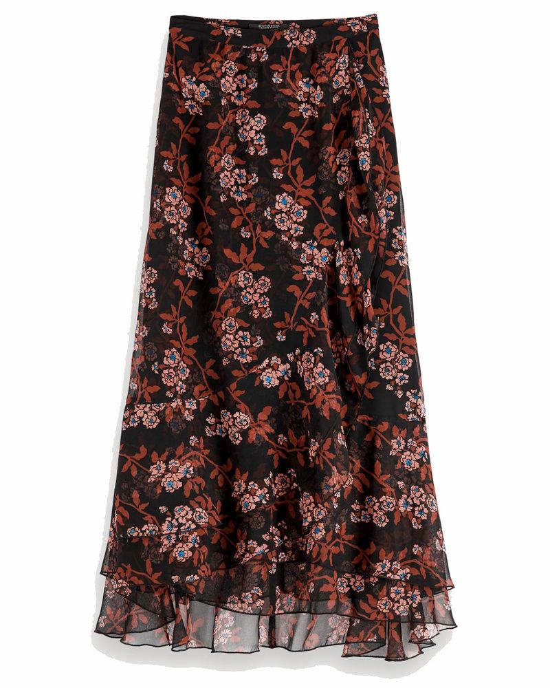 SCOTCH & SODA 152581 22 Printed maxi skirt