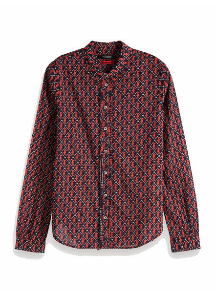 Scotch&Soda 150656 Classic long sleeve shirt with all over print