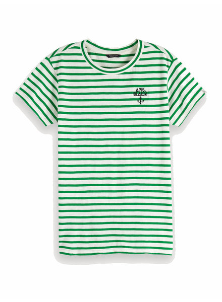Scotch&Soda 153229 Short sleeve tee with chain embroidery