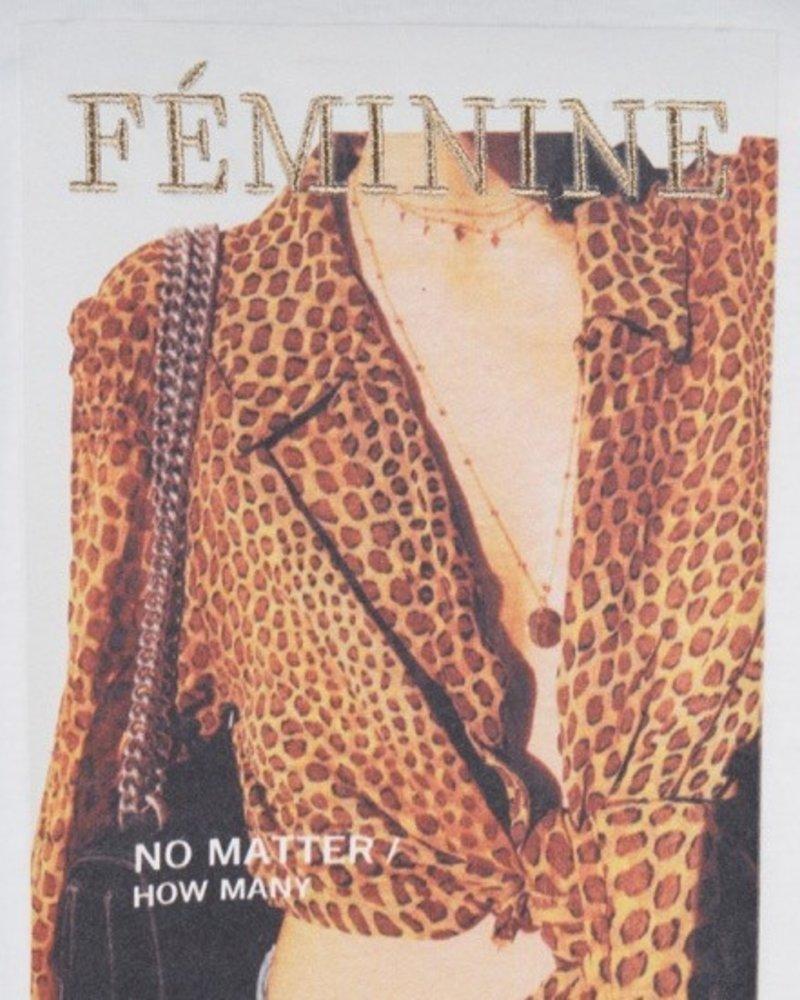 ESQUALO F19.16525 T-shirt feminine leopard Off White