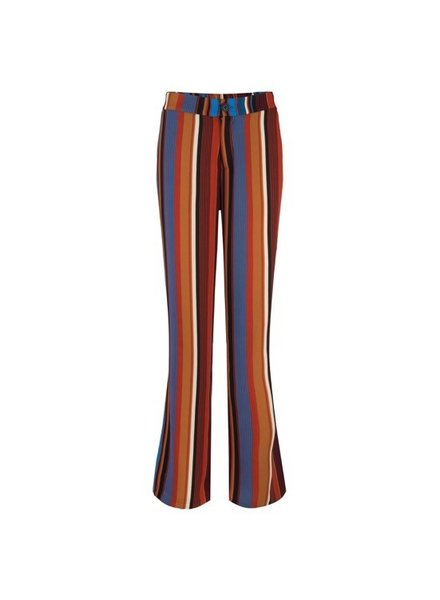 ESQUALO F19.14505 Trouser multi stripe Multi Color