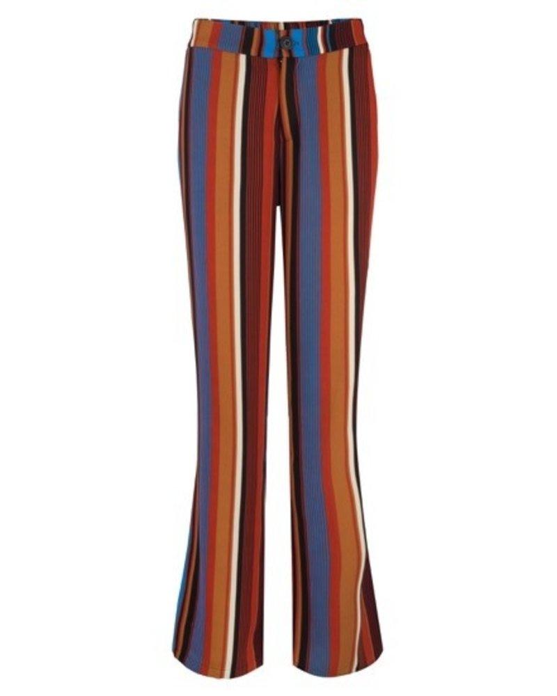ESQUALO F19.14505 Trouser multi stripe Multi Color