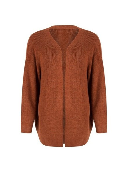 ESQUALO F19.07537 Cardigan hairy Brandy