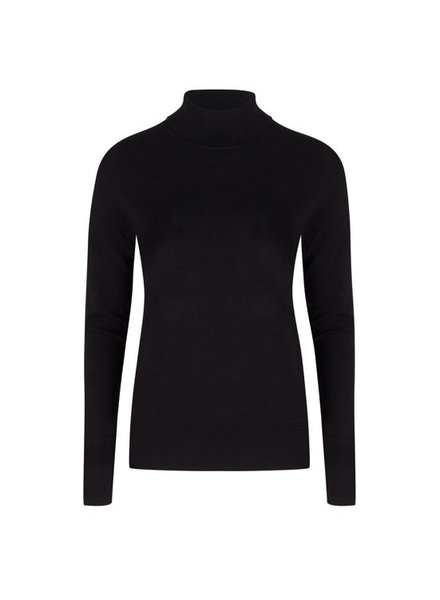 ESQUALO F19.07526 Sweater basic curl neck Black