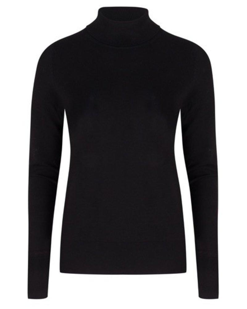 ESQUALO F19.07526 Sweater basic curl neck Black