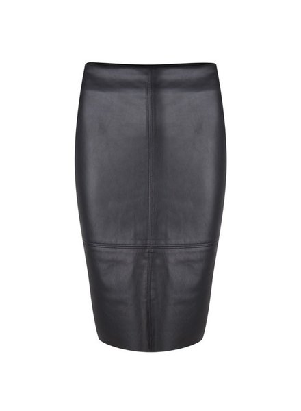 ESQUALO F19.04511 Skirt PU pencil Black