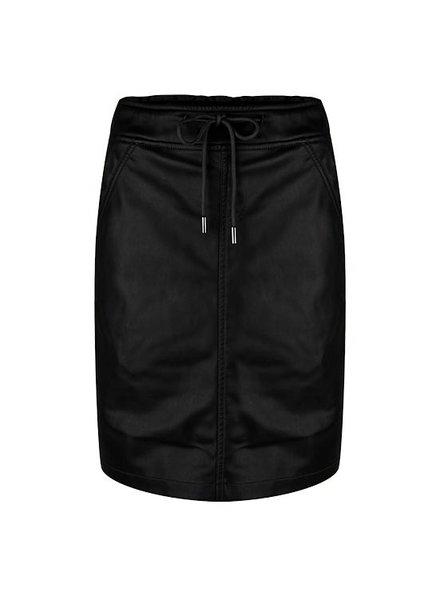 ESQUALO F19.04503 Skirt PU elastic WB Black
