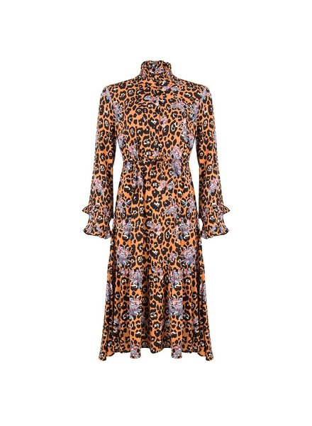 ESQUALO F19.15500 Dress funky leopard print Print