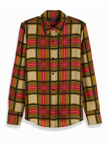 SCOTCH & SODA 152461 61 Regular drapey fit shirt in allover